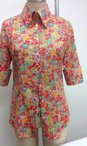 Custom Floral Shirt, Shorter Sleeves